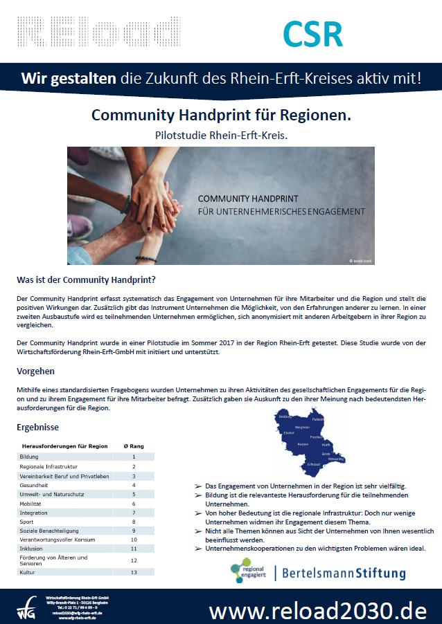 Community Handprint - Pilotstudie