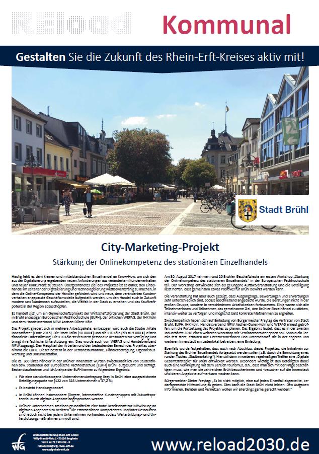 City-Marketing-Projekt Brühl