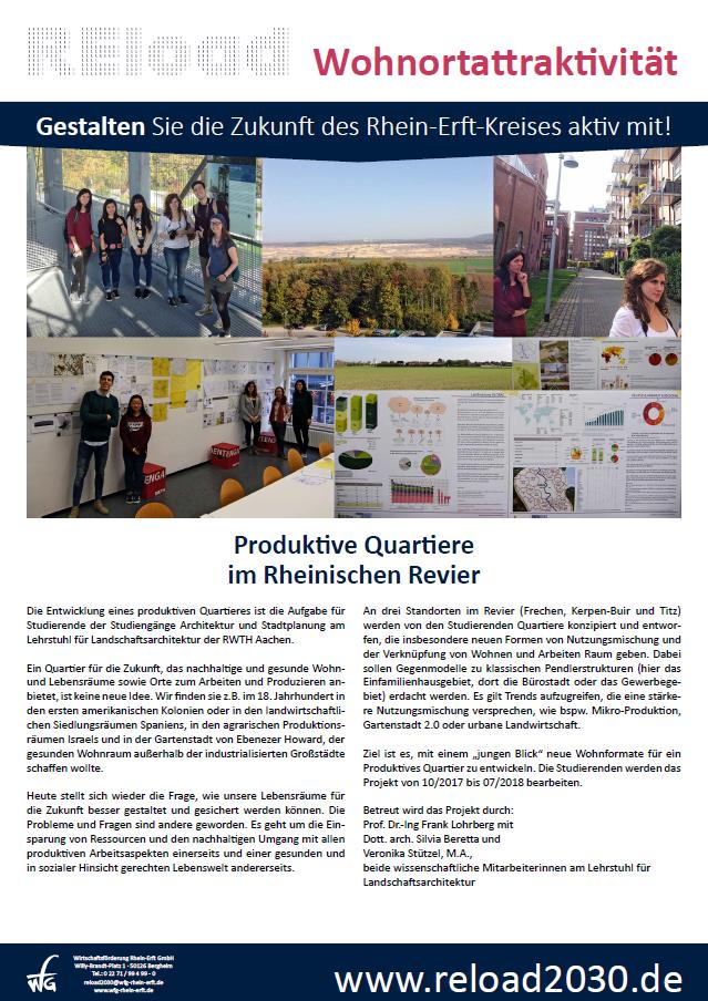 Produktive Quartiere im Rheinischen Revier